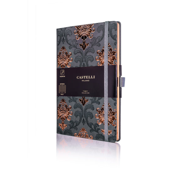 Copper Medium Ruled Notebook - Baroque
