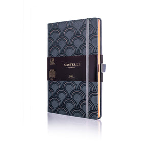 Copper Medium Ruled Notebook - Art Deco