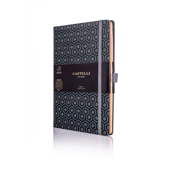 Copper Medium Ruled Notebook - Honeycomb