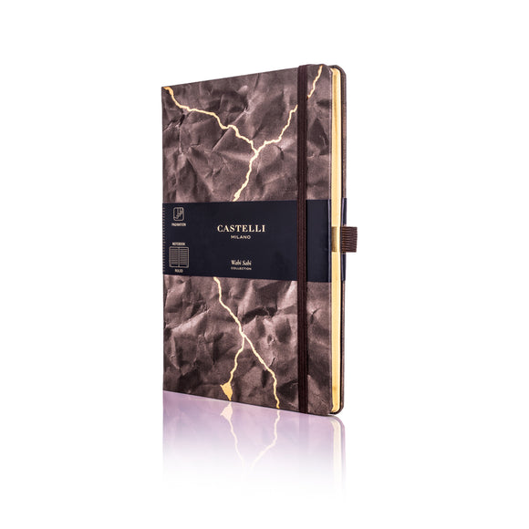 Wabi Sabi Medium Ruled Notebook - Lightning