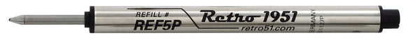 Retro 51 Rollerball Refill Single Black or Blue (REF5P) (REF57P) (P8127)