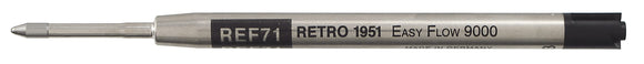Retro 51 Ballpoint Refill Single Black or Blue (REF71) (REF77) (Easyflow 9000)
