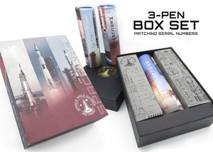 Retro 51 Tornado Space Race Rollerball Pen - 3 Piece Box Set (Gemini, Apollo and Mercury)