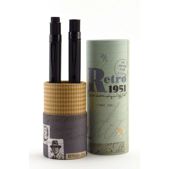 Retro 51 Tornado Rollerball and Pencil Set - Black Stealth