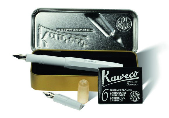 Kaweco Classic Sport Calligraphy Mini Set - White Calligraphy - we love pens