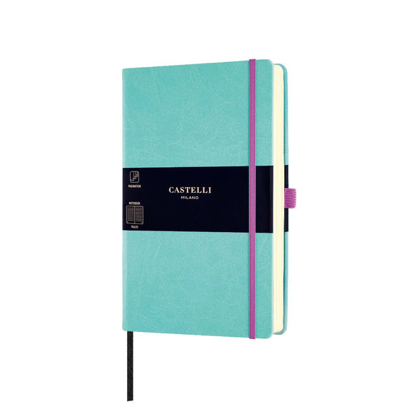 Aquarela Medium Ruled Notebook - Jade Green