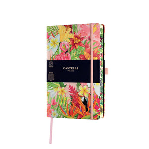 Eden Medium Ruled Notebook - Flamingo