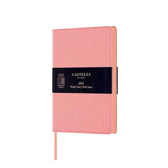 Harris 2021 Medium Flexible Weekly Diary - Petal Rose