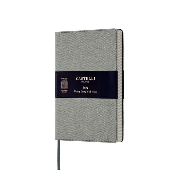 Harris 2021 Medium Flexible Weekly Diary - Oyster Grey