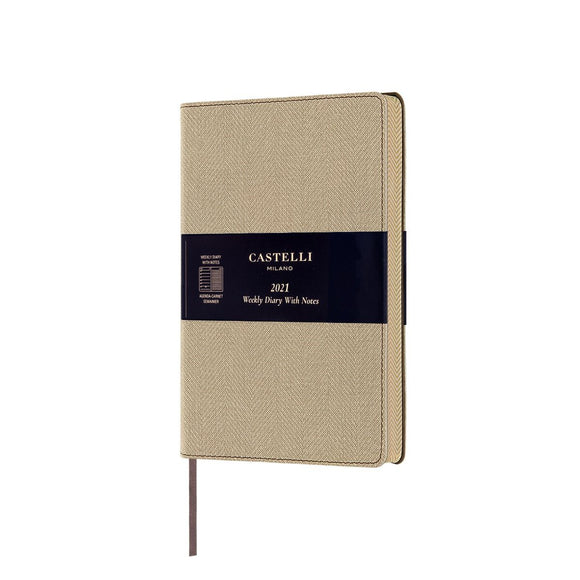 Harris 2021 Medium Flexible Weekly Diary - Desert Sand