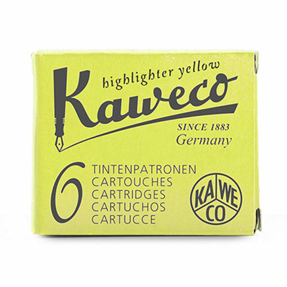 Kaweco Ink Cartridges - Glowing Yellow (Highlighter)