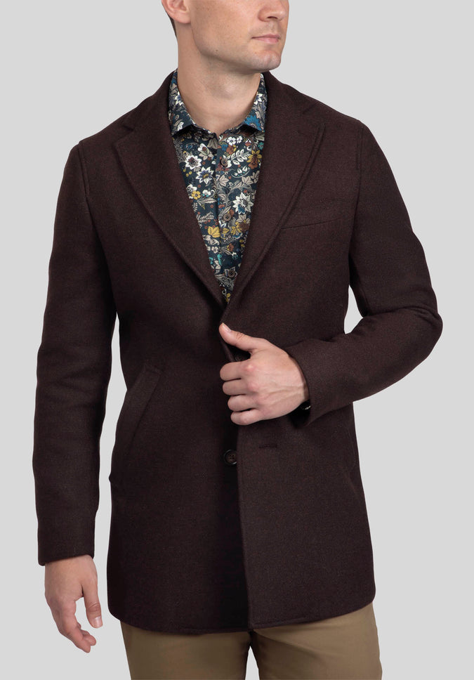 LOWELL OVERCOAT FAJ799 - Coffee