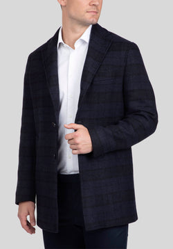LOWELL OVERCOAT FAJ700 - Navy
