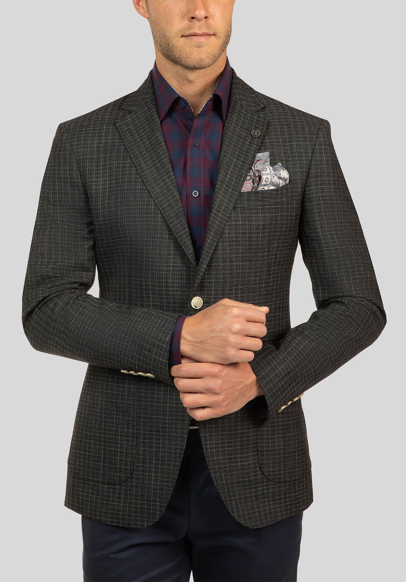 BEAUMARIS JACKET FCJ328 - Charcoal