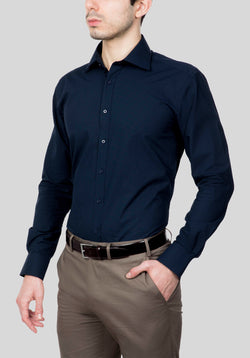 THORNBURY SHIRT FAJ707 - Navy