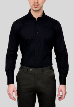 THORNBURY SHIRT FAJ709 - Black