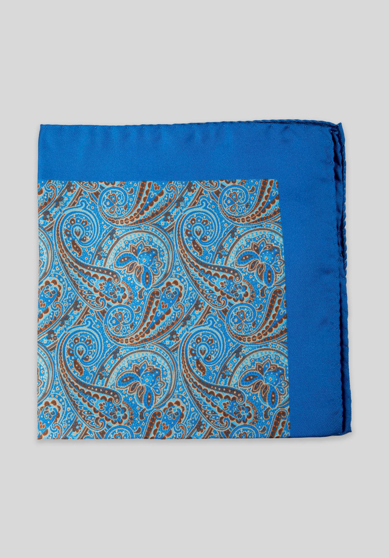 PAISLEY POCKET SQUARE - Blue