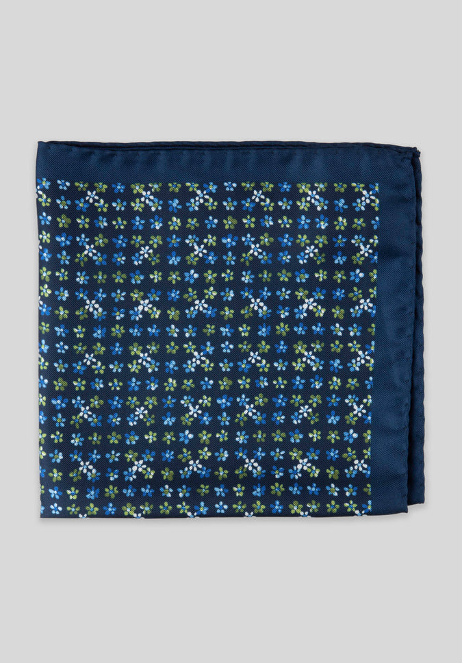 FORGET ME NOT POCKET SQUARE - Navy