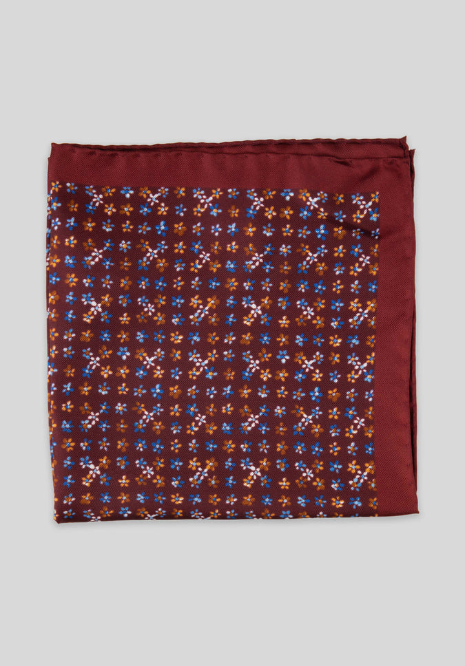 FORGET ME NOT POCKET SQUARE - Wine