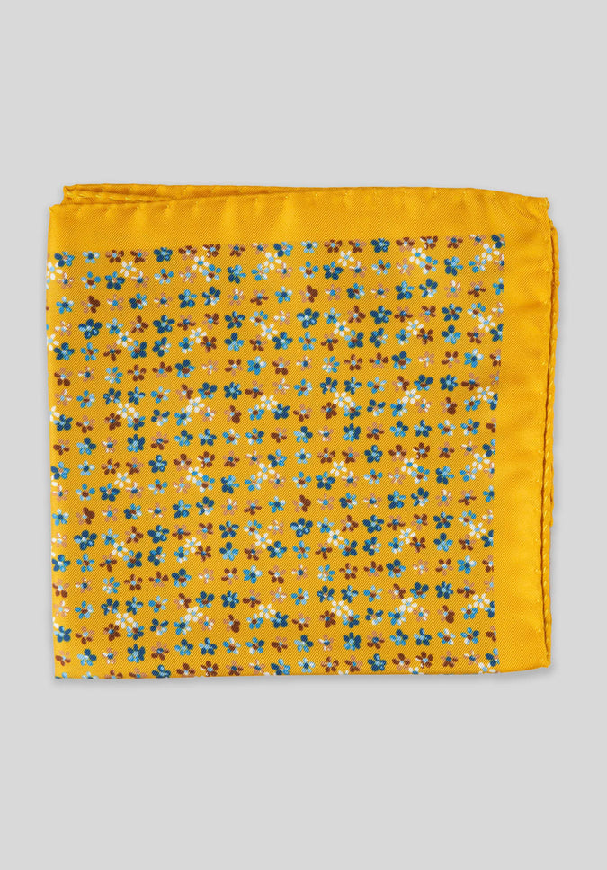 FORGET ME NOT POCKET SQUARE - Yellow