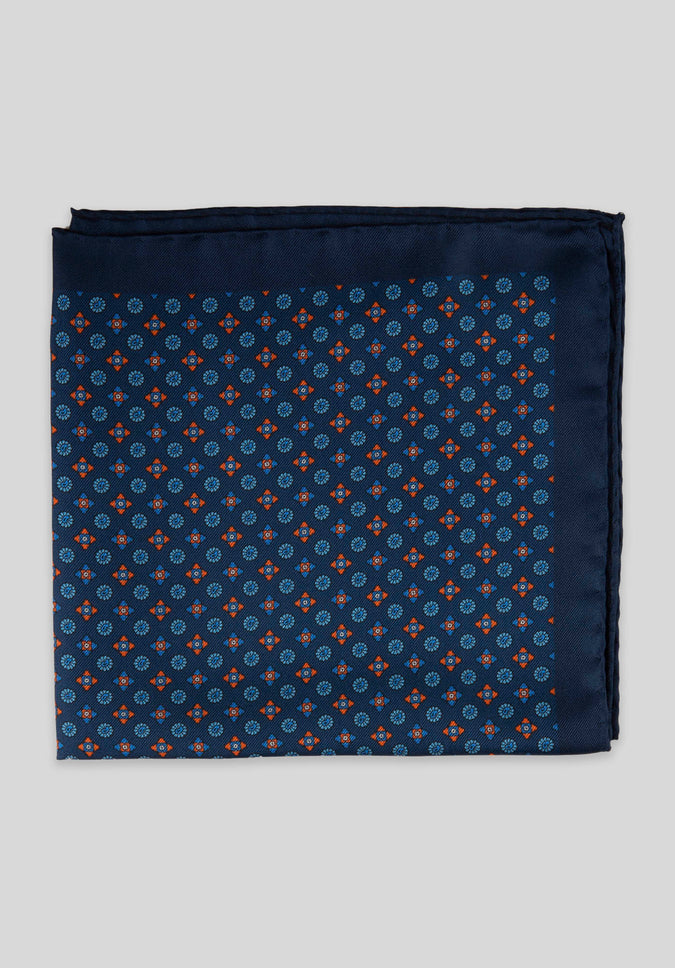 FOULARD POCKET SQUARE - Blue