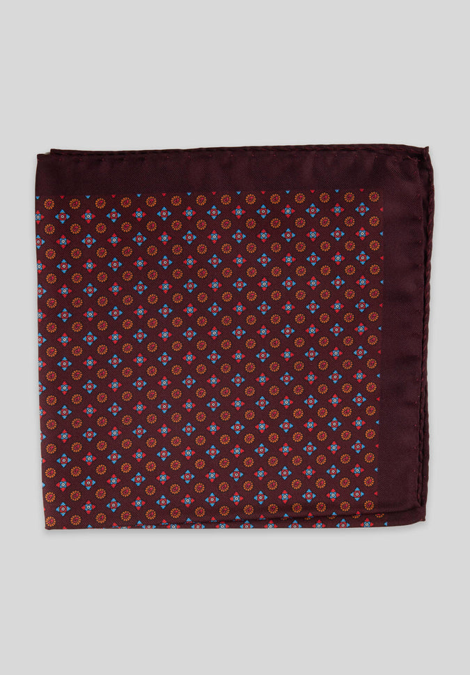 FOULARD POCKET SQUARE - Wine