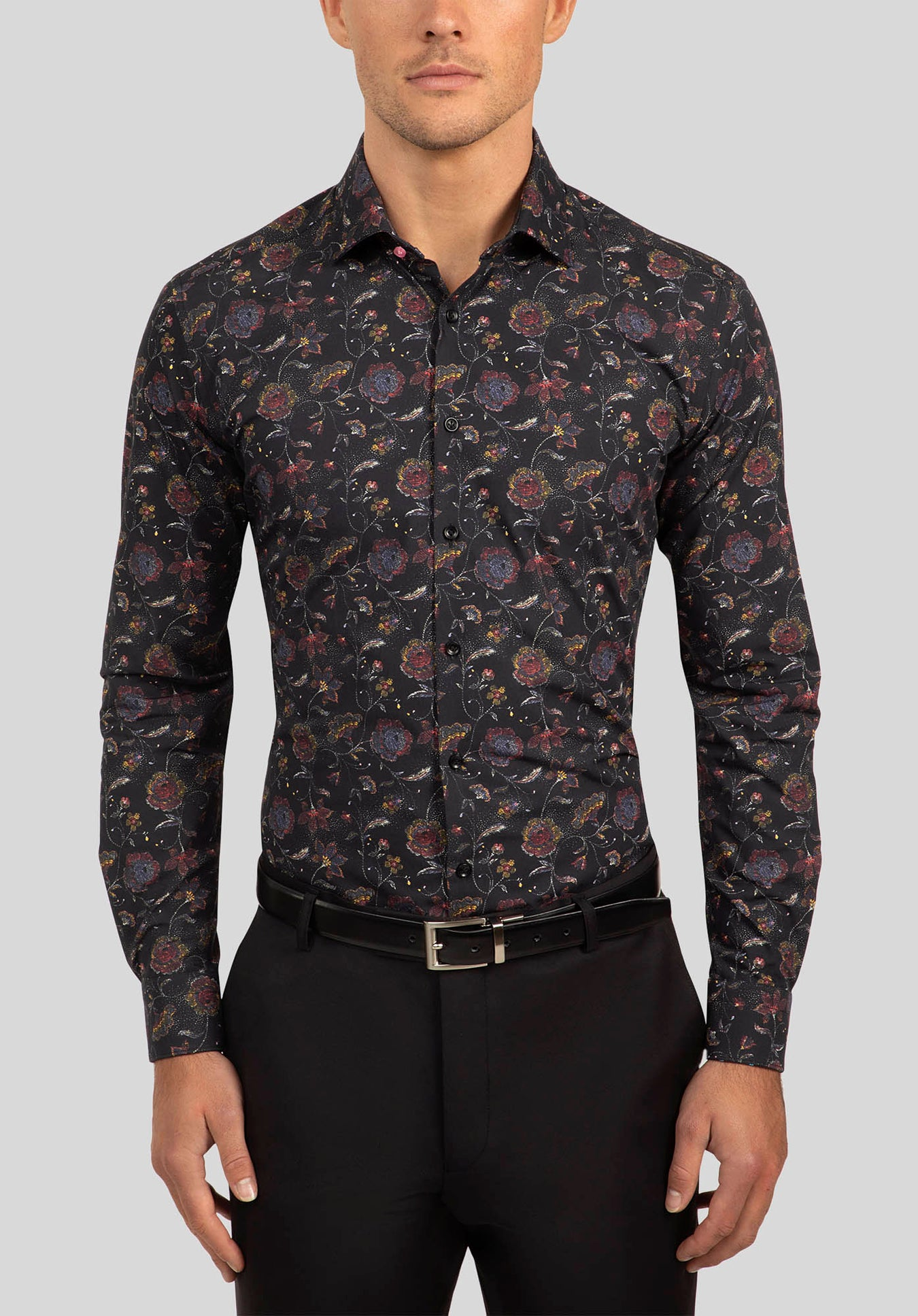 MOTION SHIRT FGJ636 - Black