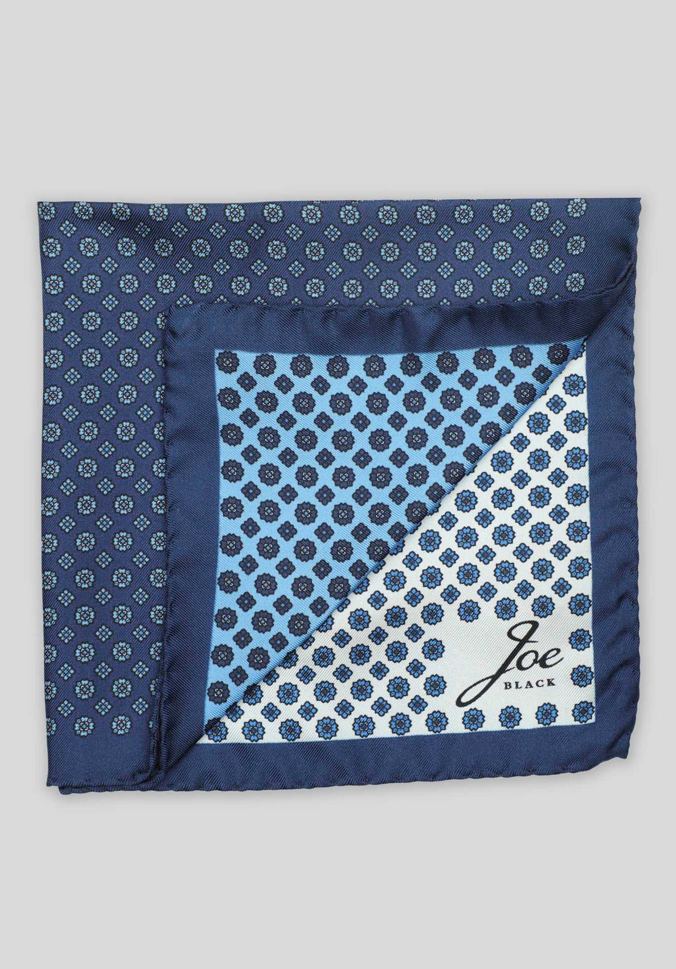 4-WAY FOULARD POCHETTE - Blue