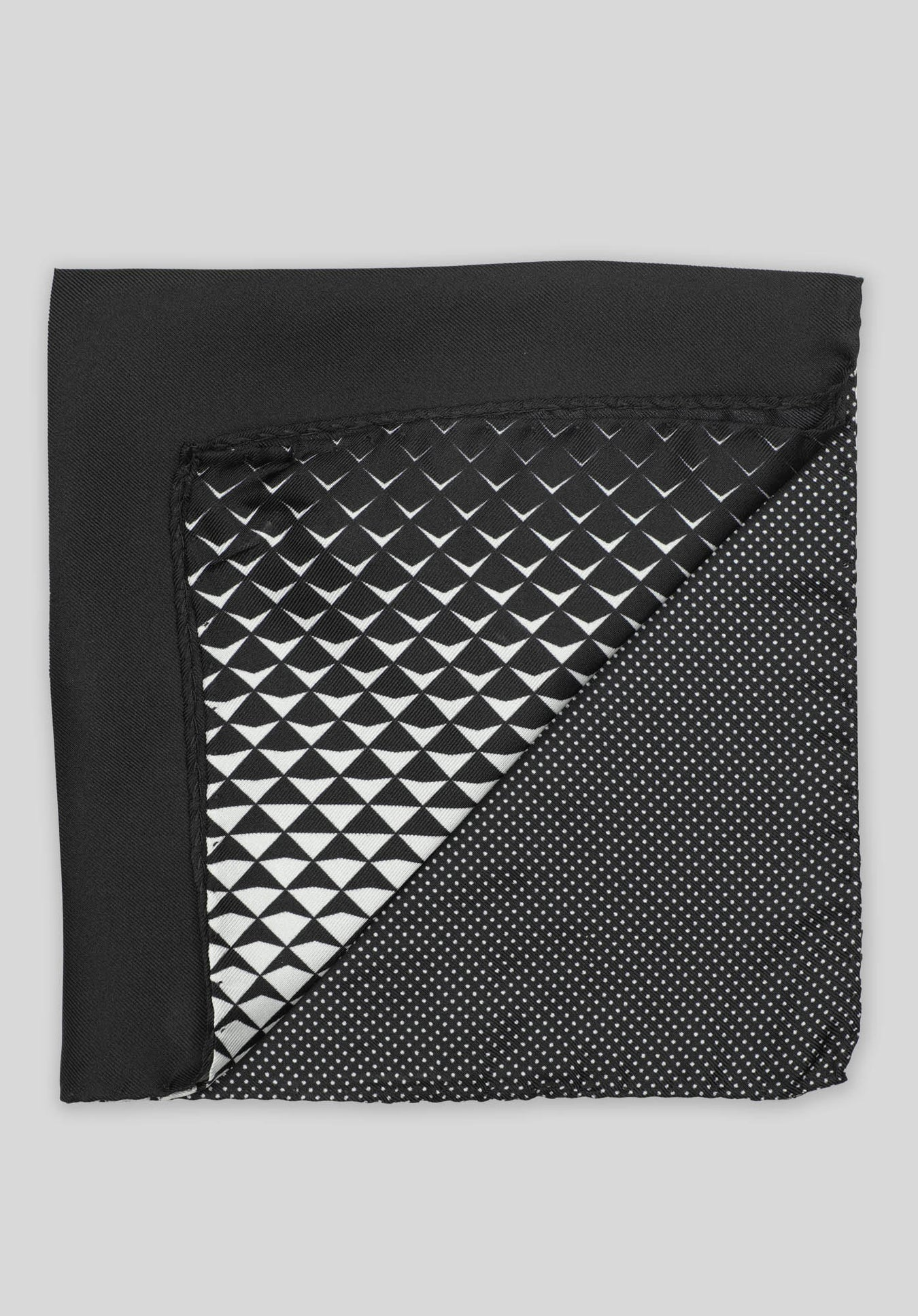 4-WAY GEOMETRIC POCHETTE - Black