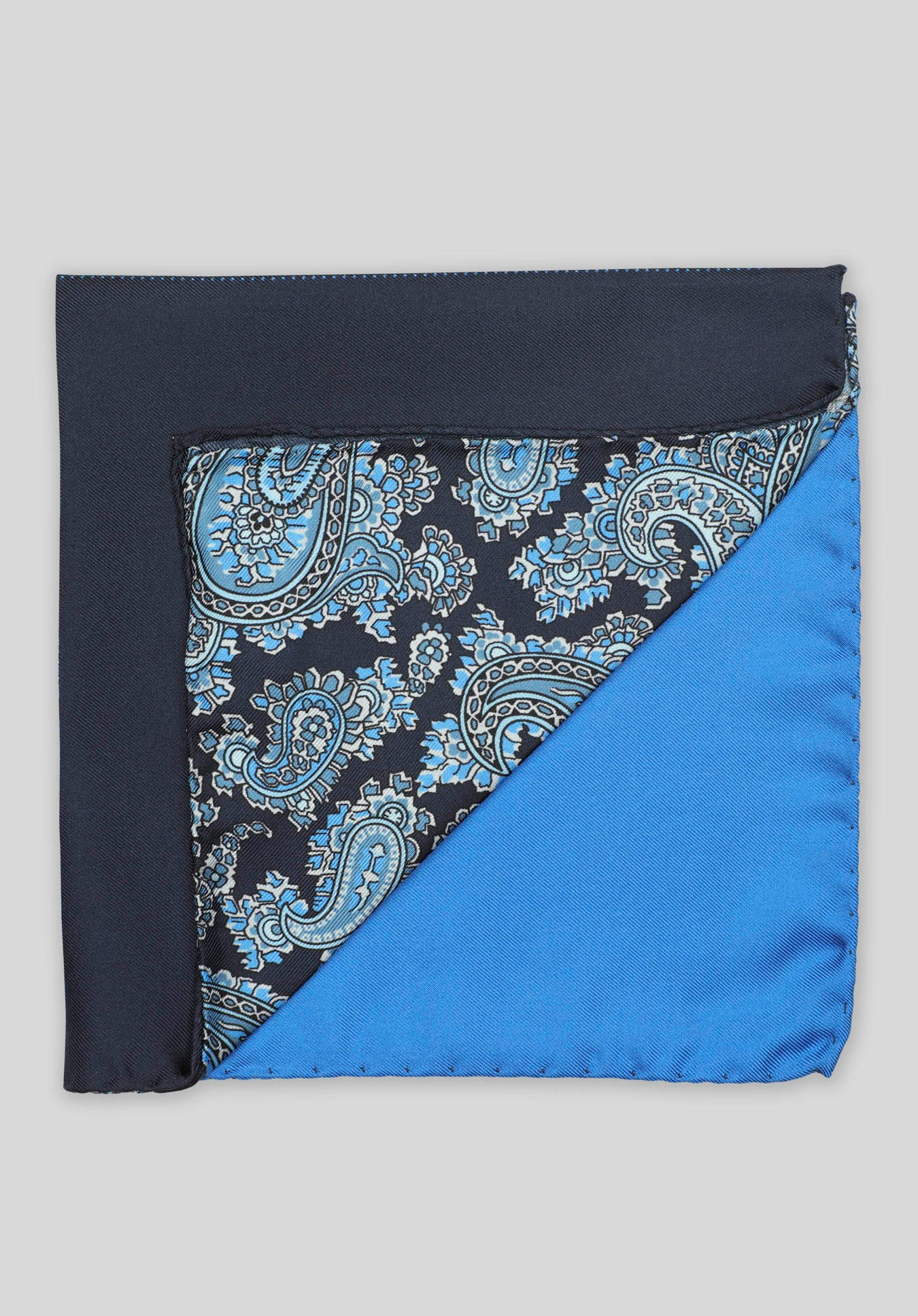 4-WAY PAISLEY POCHETTE - Blue