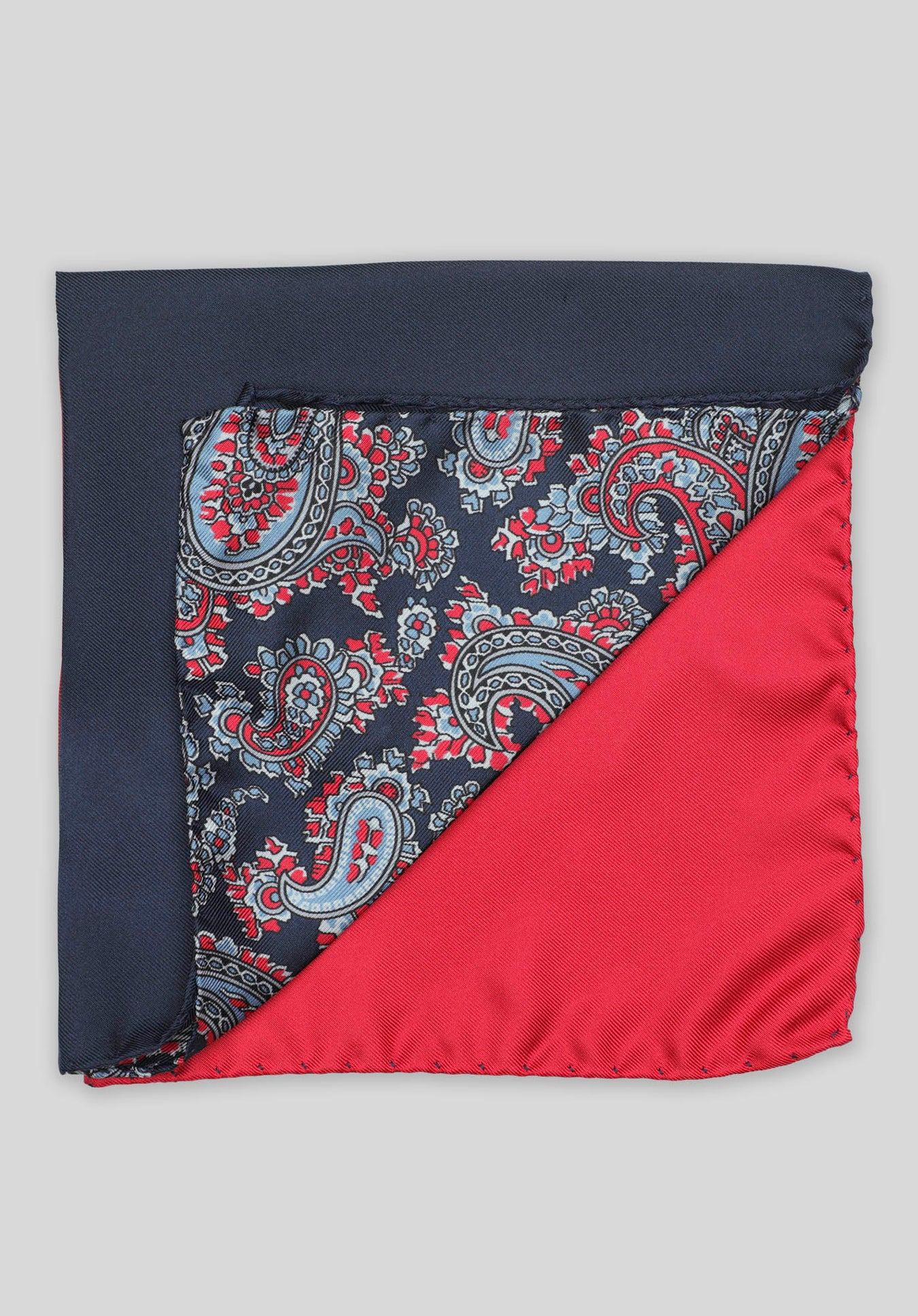 4-WAY PAISLEY POCHETTE - Red