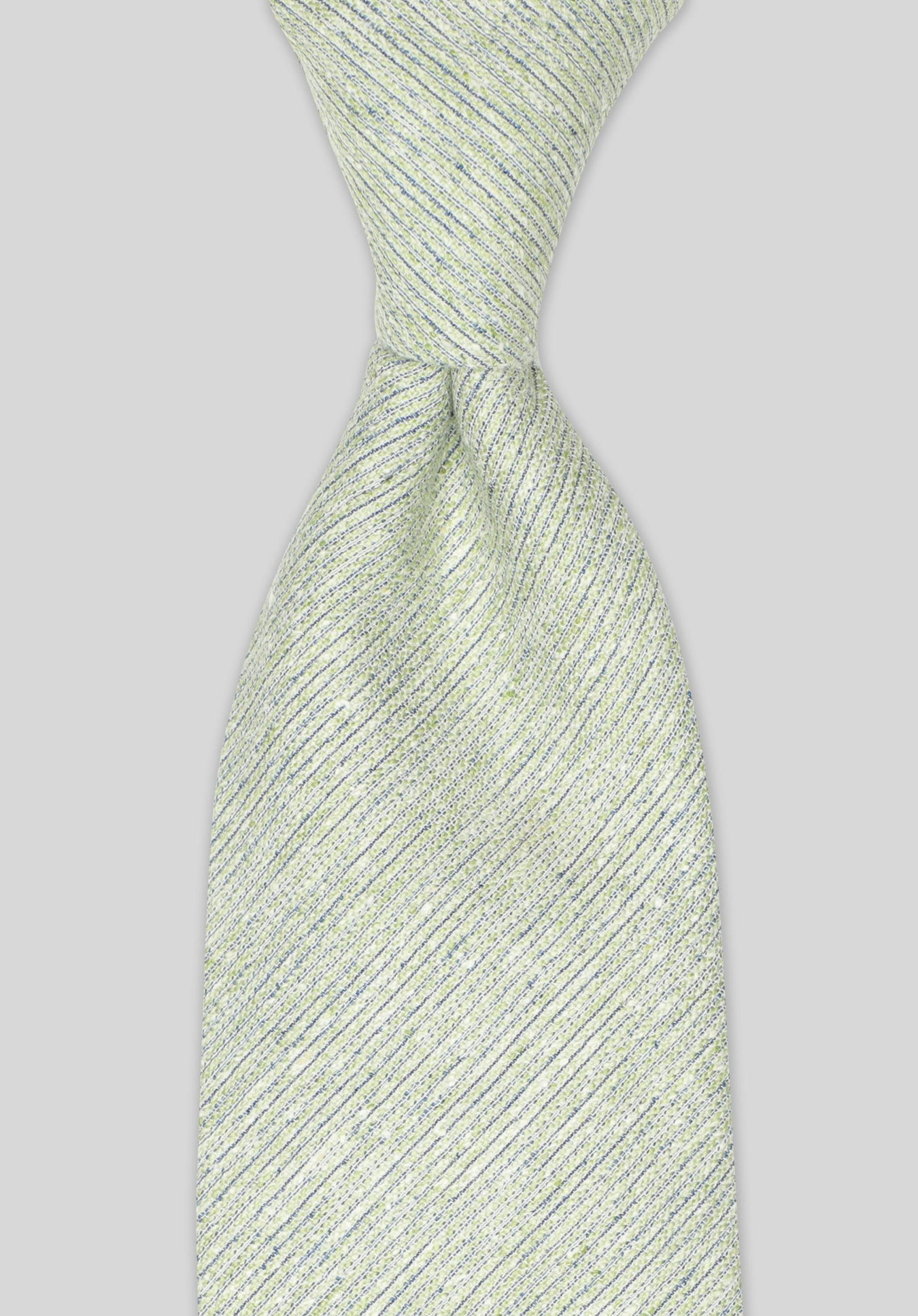 COTTON SILK SLUB 7.5CM TIE  - Sage
