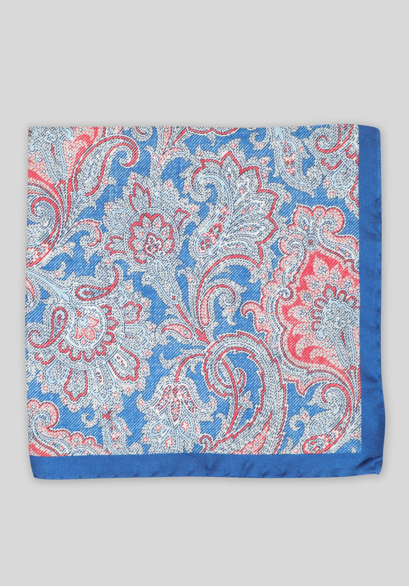 FADED PAISLEY POCHETTE - Denim