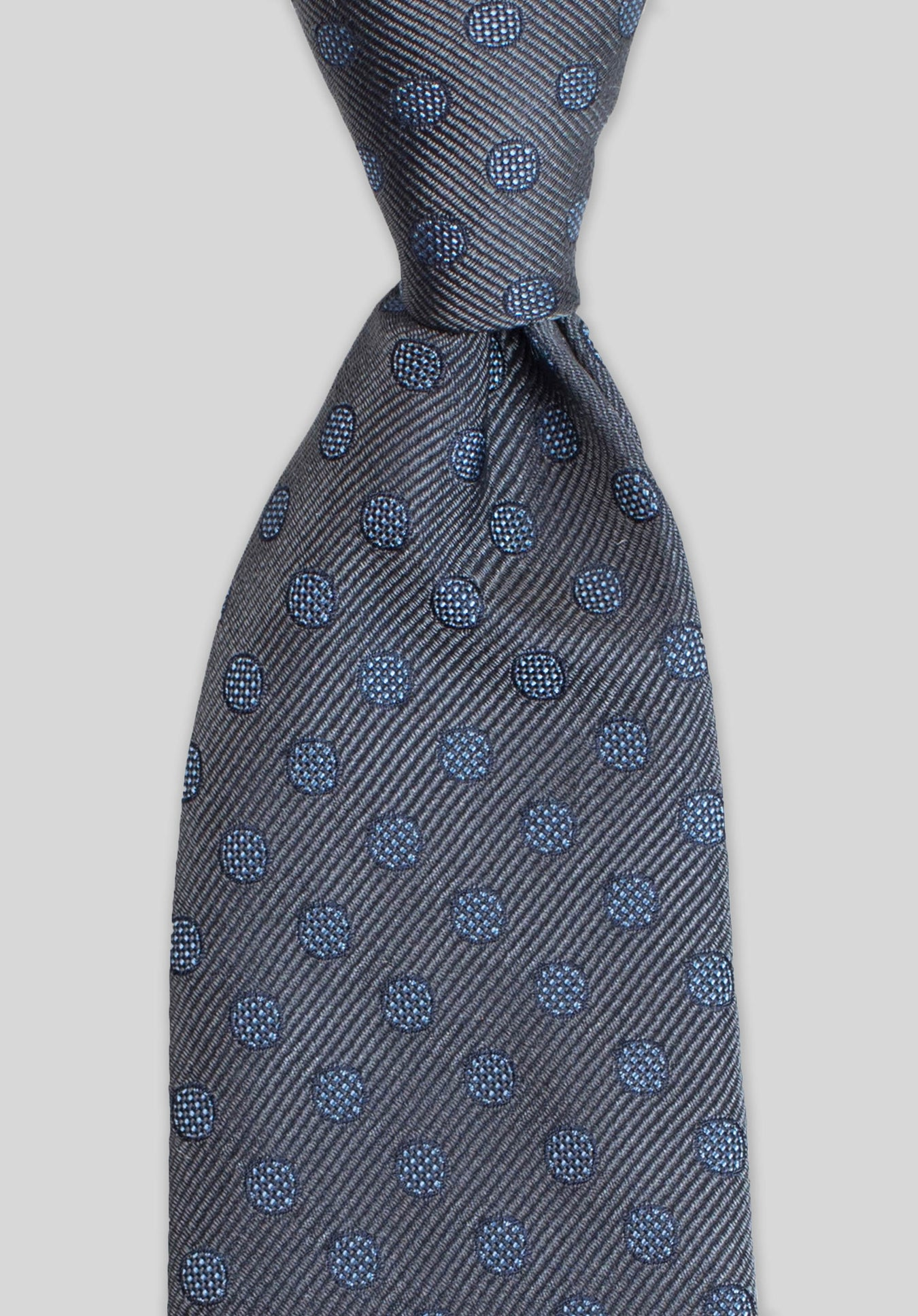HATCH SPOT 7.5CM TIE - Grey