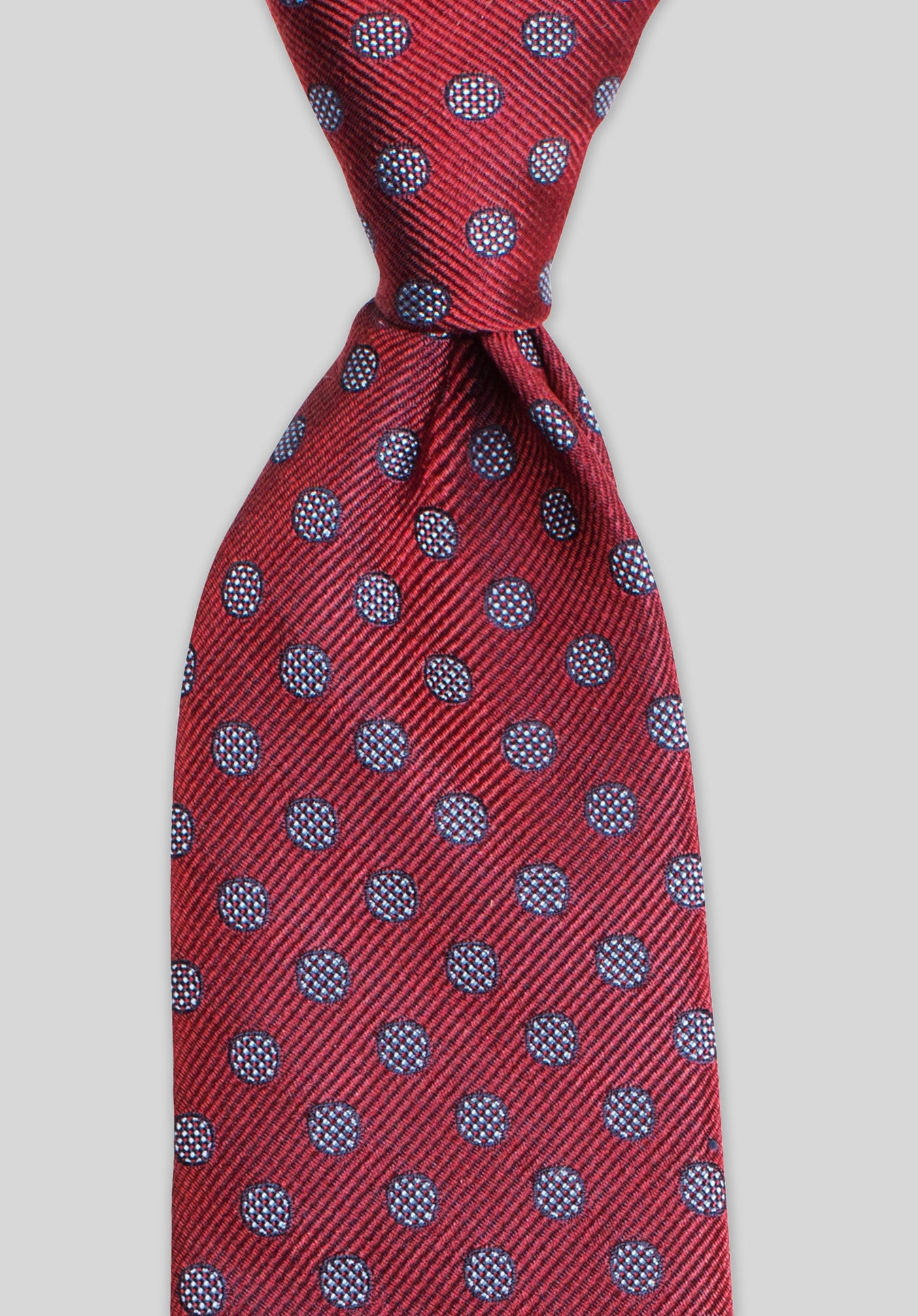 HATCH SPOT 7.5CM TIE - Red