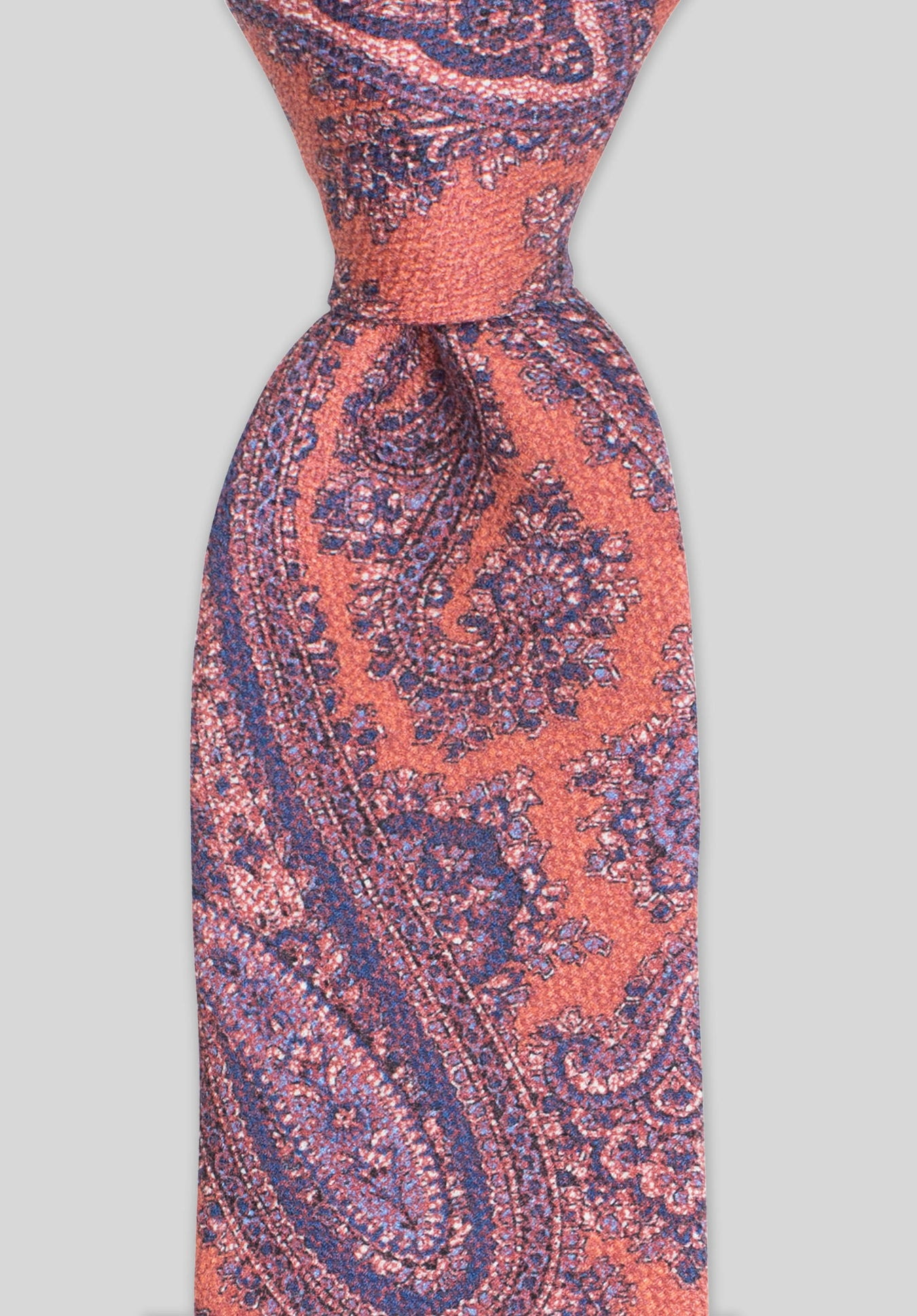 SOFT PAISLEY 7.5CM TIE - Orange