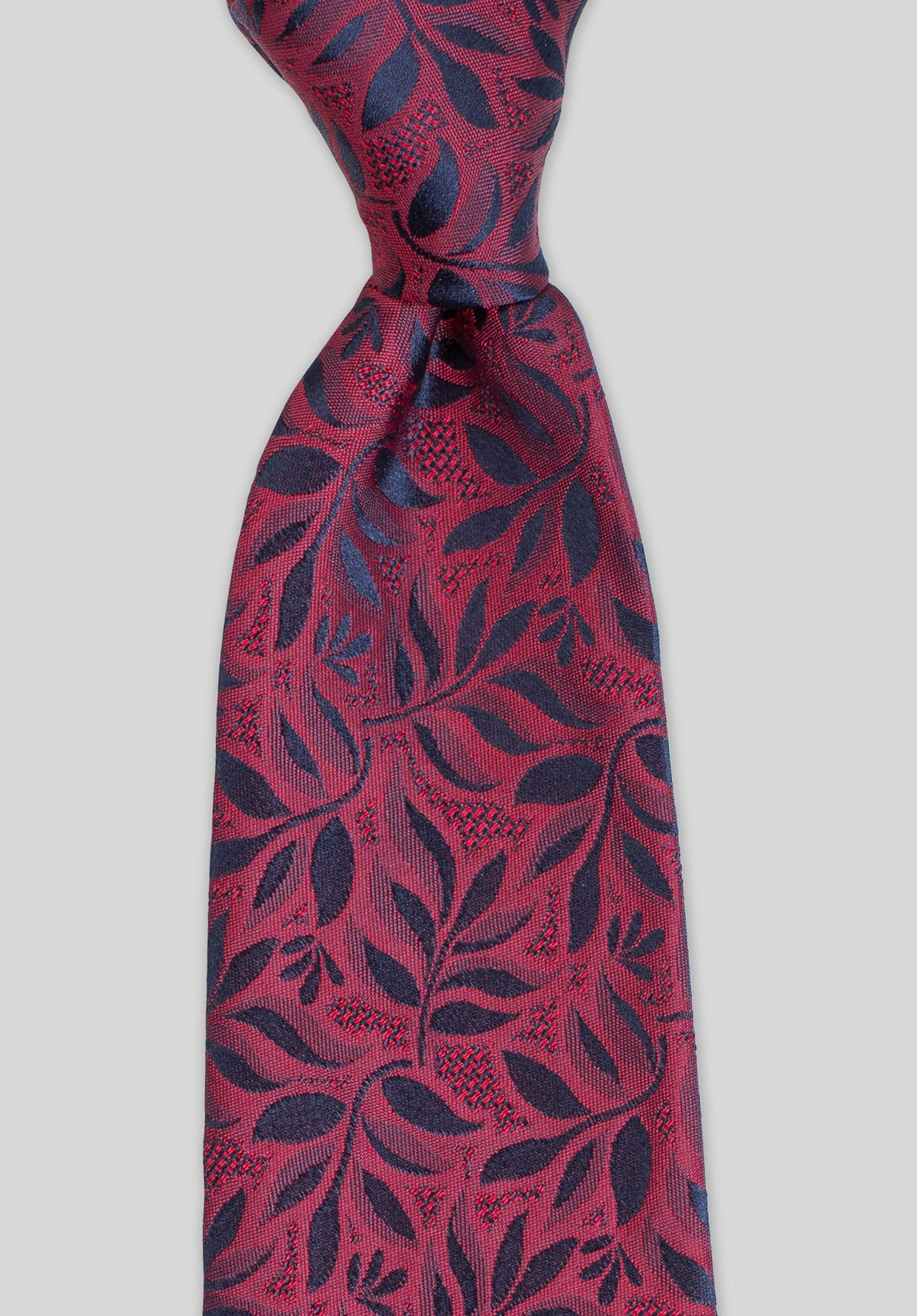WILLOW 7.5CM TIE - Wine