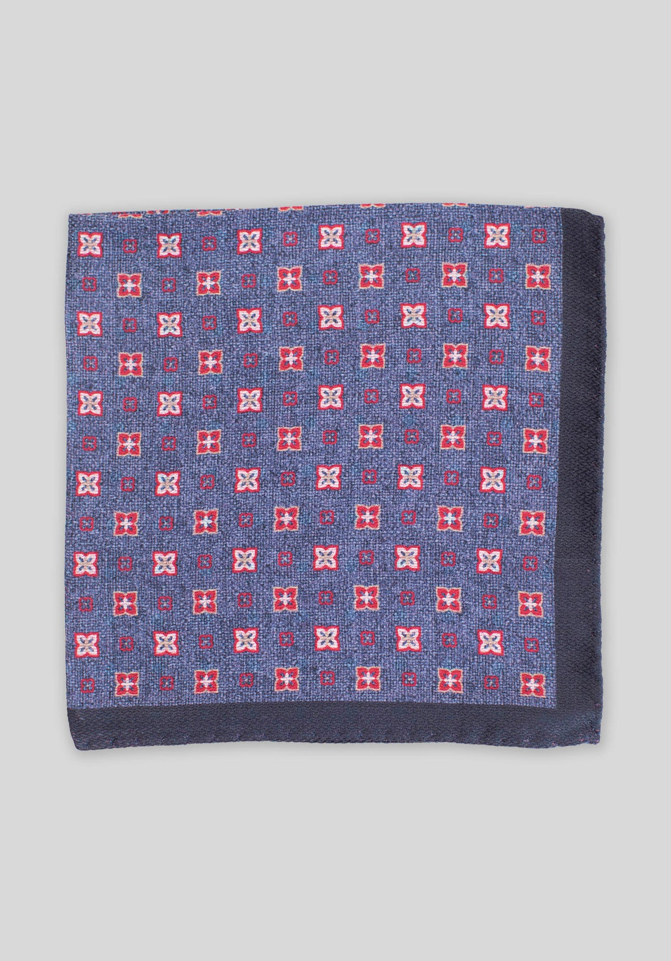 DOUBLE PRINT FOULARD POCHETTE - Red