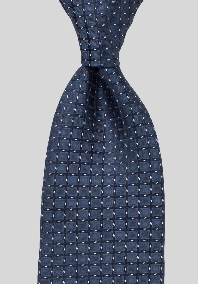 LATTICE 7.5CM TIE - Navy