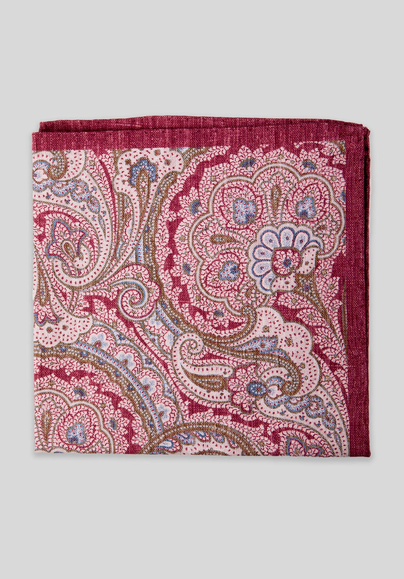 WASHED PAISLEY DOUBLE PRINT PS - Wine