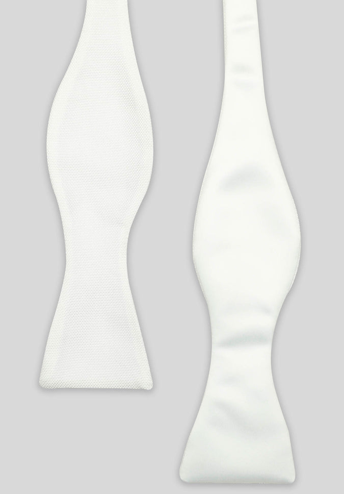 DOUBLE SIDED SELF-TIE BOW - Cream