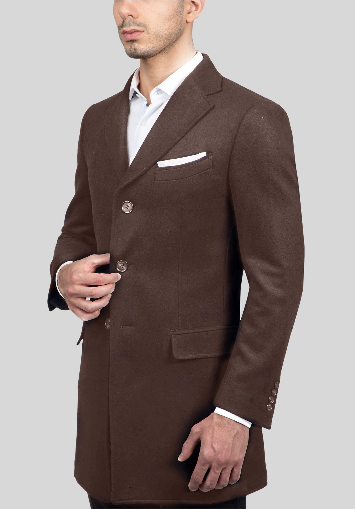 SHIELD OVERCOAT FGJ646 - Taupe