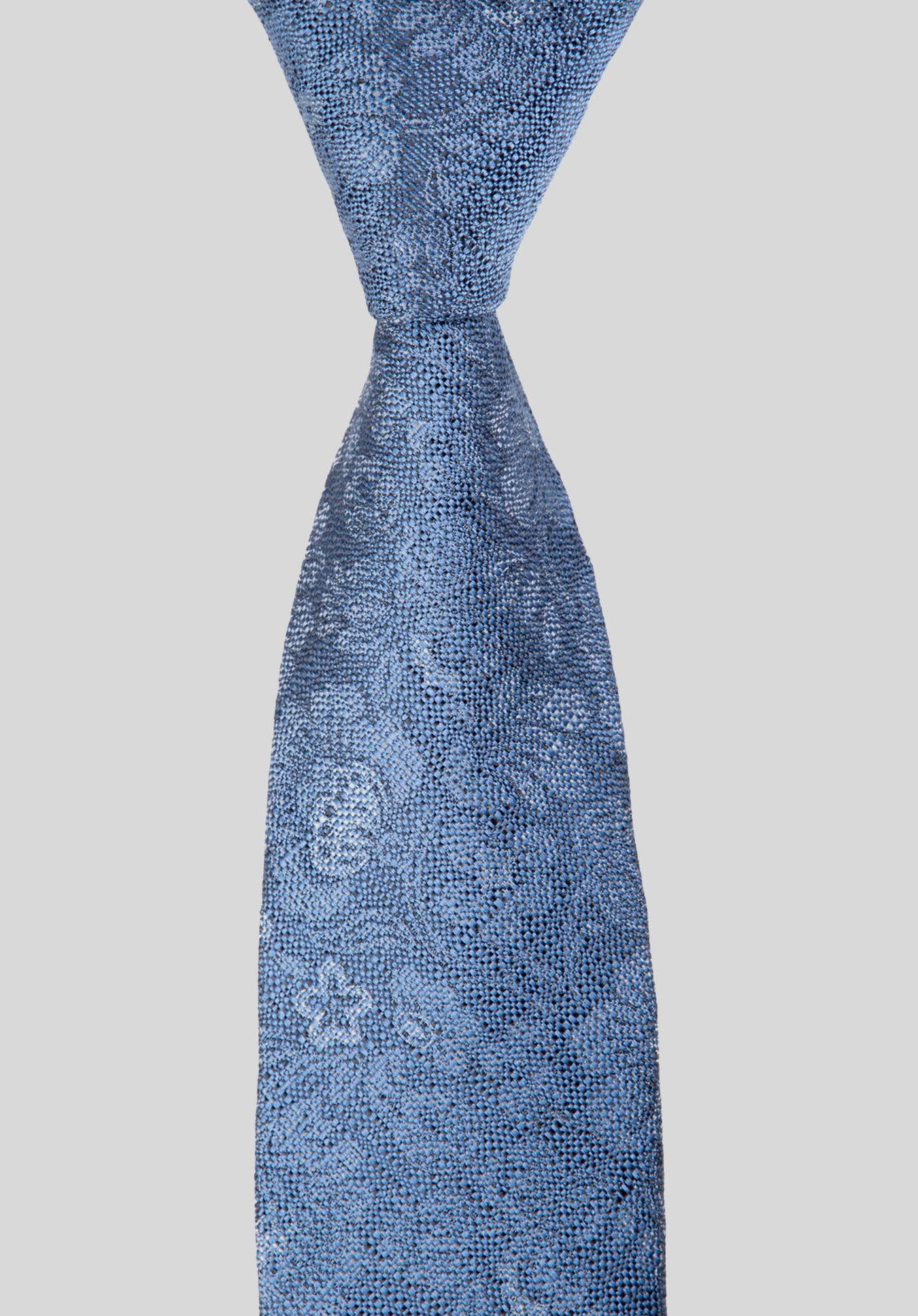 SHADOW FLORAL 6CM TIE - Blue