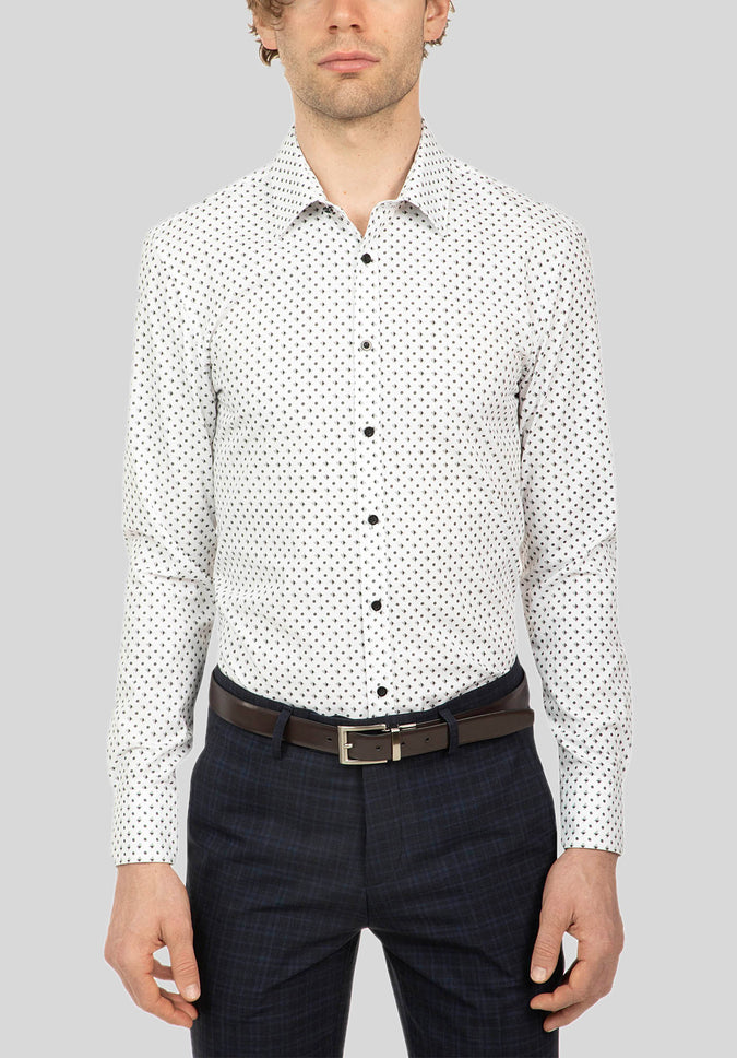 KEMBA SHIRT FUJ548 - Black White