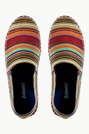 Mens Multi Color Street striped Espadrilles