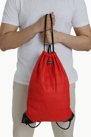 Casual Polyester Punk Bag With Strings
