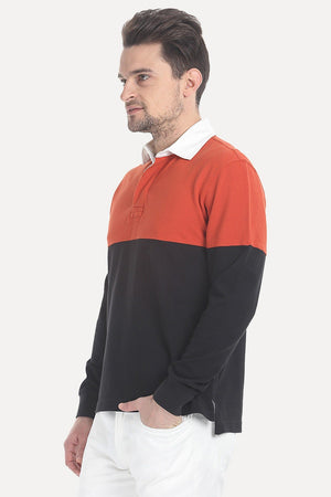 Solid Cotton Pique Rugby
