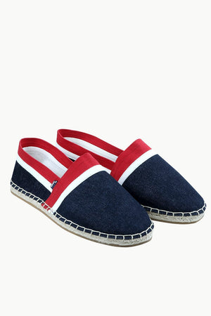 Men's Navy Cut N' Sew Denim Espadrilles