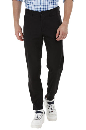 Black Cuff Jogger Twill Pants