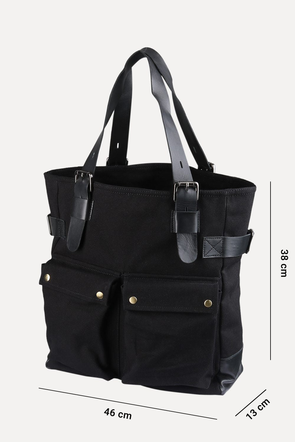 474cf6bcecd6 Buy Online Black Twill Canvas Tote Bags Online in India at Zobello